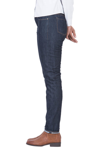 HI RISE SLIM Organic Stretch Selvedge Denim Deep Indigo
