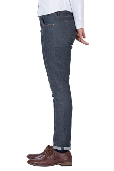 MID RISE SKINNY Italian Super Stretch Selvedge Denim Dark Indigo
