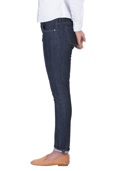 MID RISE SKINNY Organic Stretch Selvedge Denim Deep Indigo