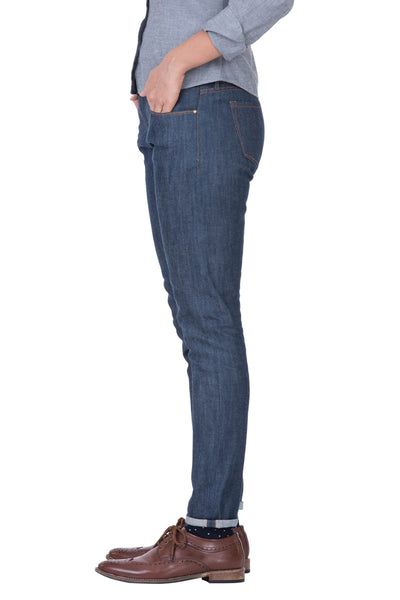 MID RISE SKINNY Italian Stretch Selvedge Denim True Indigo