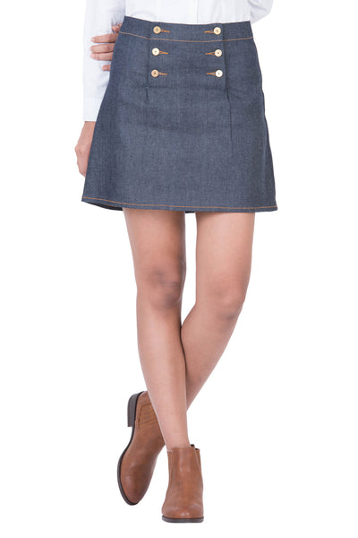 MINI SKIRT Italian Super Stretch Selvedge Denim Ever Blue