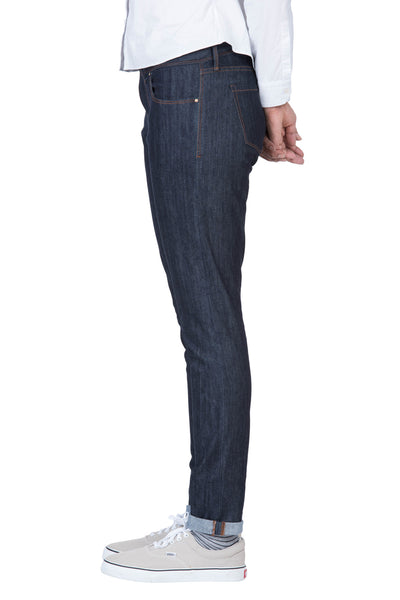 MID RISE SKINNY Organic Flex Denim Saturated Indigo
