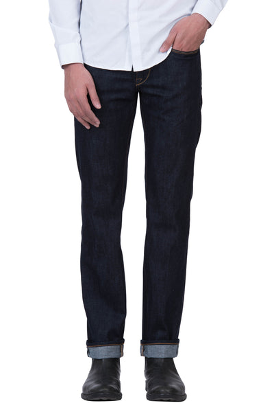SLIM STRAIGHT Organic Selvedge Denim Brilliant Indigo