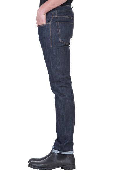 SLIM TAPER Organic Stretch Selvedge Denim Deep Indigo