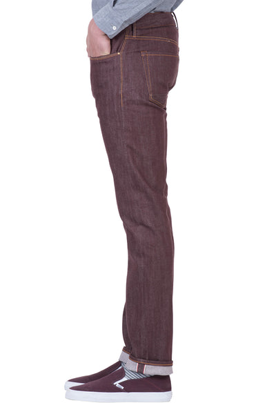 SLIM TAPER Stretch Selvedge Denim Refired Red