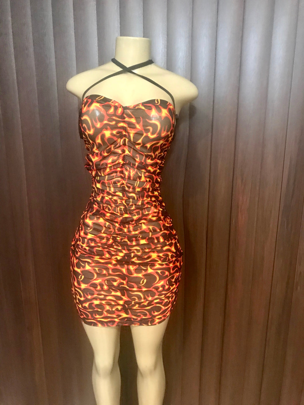 'Flame Him' Dress