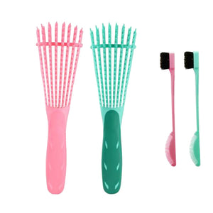 4 Pc.-Detangler Brushes (2) and Baby Hair Brush (2)