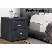 Load image into Gallery viewer, Artiss Moda Bedside table - Charcoal