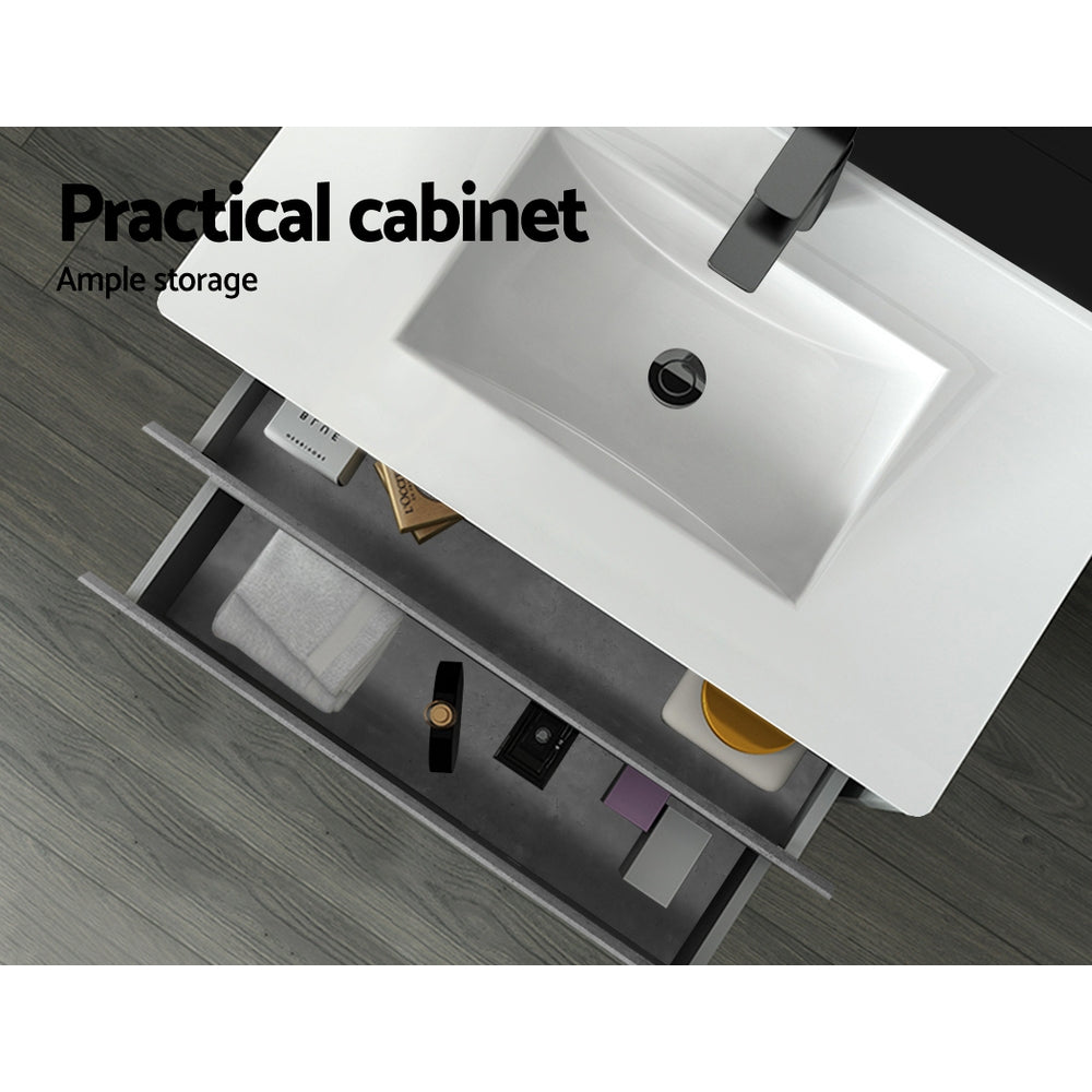 Cefito 900mm Bathroom Vanity Cabinet Basin Unit Sink Storage Wall Mounted Cement