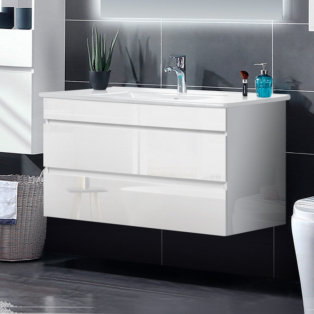 Cefito 900mm Bathroom Vanity Cabinet Basin Unit Wash Sink Storage Wall Mounted White