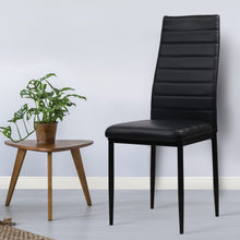 Load image into Gallery viewer, Artiss Set of 4 Dining Chairs PVC Leather - Black
