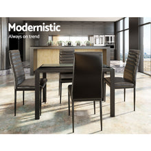 Load image into Gallery viewer, Artiss Astra 5-Piece Dining Table and Chairs Sets - Black