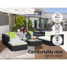 Load image into Gallery viewer, Gardeon 9PC Outdoor Furniture Sofa Set Wicker Garden Patio Pool Lounge
