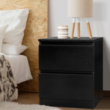 Load image into Gallery viewer, Artiss Bedside Tables Drawers Side Table Bedroom Furniture Nightstand Black Lamp