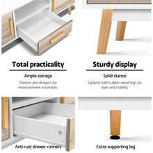 Load image into Gallery viewer, Artiss Wooden Entertainment Unit - White & Wood SKU- FURNI-G-CHIC-TV-WH-WD