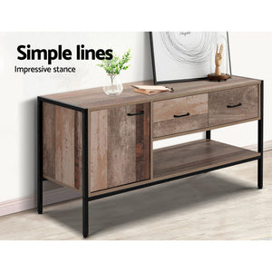 Artiss TV Stand Entertainment Unit Storage Cabinet Industrial Rustic Wooden 120cm SKU- FURNI-G-IND-TV01-WD-AB