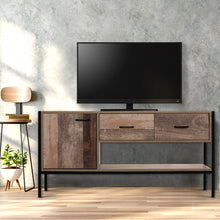 Load image into Gallery viewer, Artiss TV Stand Entertainment Unit Storage Cabinet Industrial Rustic Wooden 120cm SKU- FURNI-G-IND-TV01-WD-AB