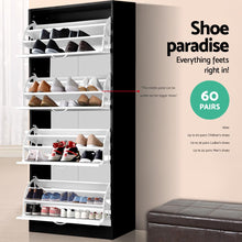 Load image into Gallery viewer, Artiss Wooden Shoe Cabinet SKU- FURNI-G-SHOE-4D3R-WH-BK-AB