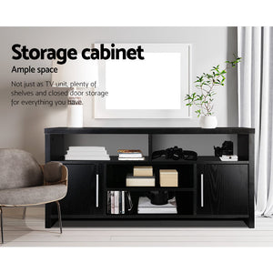 Artiss Entertainment Unit with Cabinets - Black SKU- FURNI-TV-120-BK-AB
