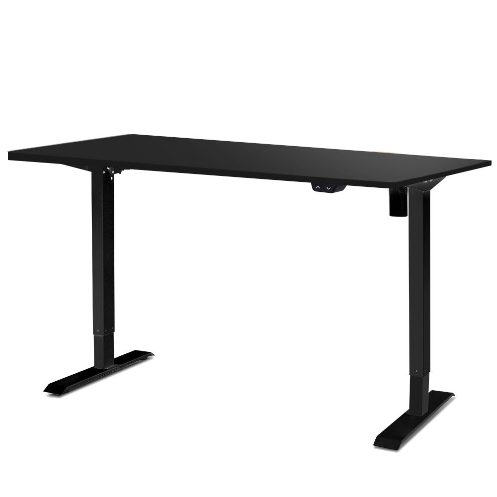Electric Motorised Height Adjustable Standing Desk - Black Frame with 100cm Black Top
