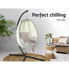 Load image into Gallery viewer, Gardeon Outdoor Furniture Egg Hammock Porch Hanging Pod Swing Chair with Stand