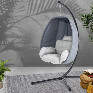Gardeon Outdoor Furniture Egg Hammock Hanging Swing Chair Pod Lounge Chairs