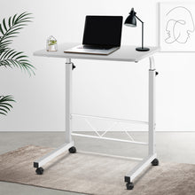 Load image into Gallery viewer, Portable Adjustable Wooden Latpop Stand - White  LA-DESK-60-WH