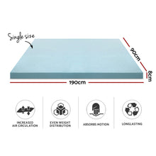 Load image into Gallery viewer, Giselle Bedding COOL GEL Memory Foam Mattress Topper BAMBOO Cover Single 8CM Mat