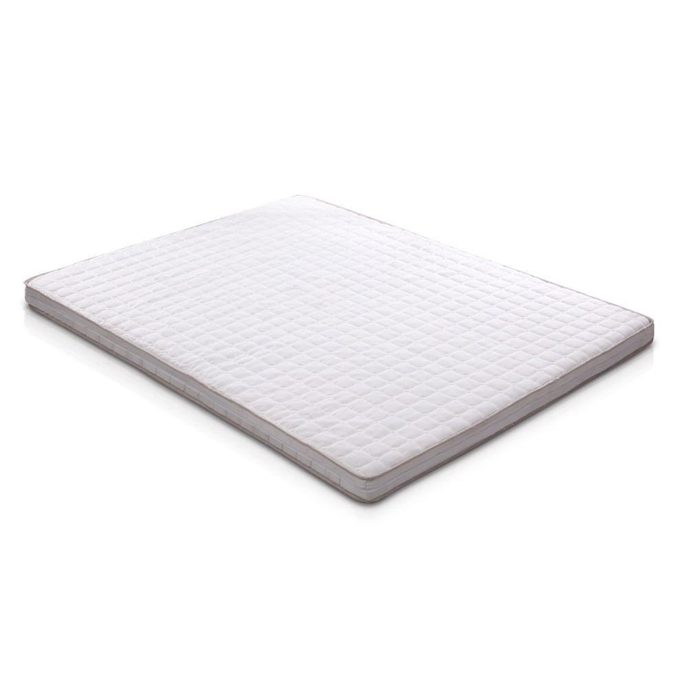 Giselle Bedding Memory Foam Mattress Topper Bed Underlay Cover King 7cm