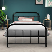 Load image into Gallery viewer, Artiss Metal Single Bed Frame - Black