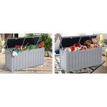 Load image into Gallery viewer, Gardeon Outdoor Storage Box Bench Seat Lockable 240L