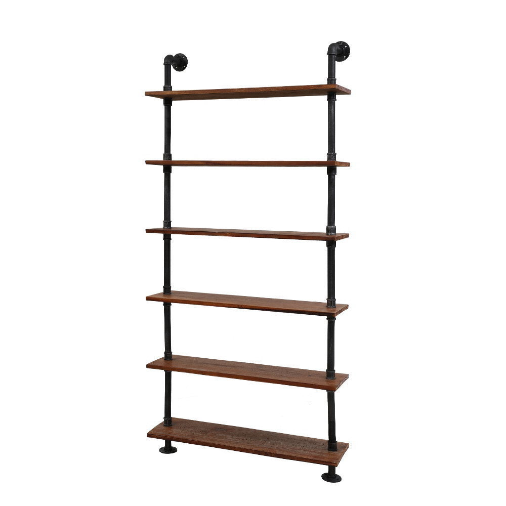 Artiss Wall Shelves Display Bookshelf Rustic Vintage DIY Pipe Shelf Brackets