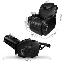 Load image into Gallery viewer, Artiss PU Leather Massage Armchair - Black SKU- RECLINER-A2-BK-AB