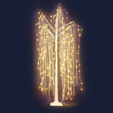 Jingle Jollys 1.8M LED Christmas Tree Willow Xmas Fibre Optic Warm White Lights