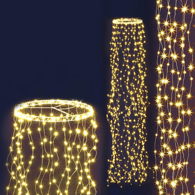 Jingle Jollys Christmas Motif Lights String Waterfall Fairy 720 LED Wedding 3M