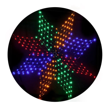 Jingle Jollys Christmas Motif Lights LED Star Net Waterproof Outdoor Colourful