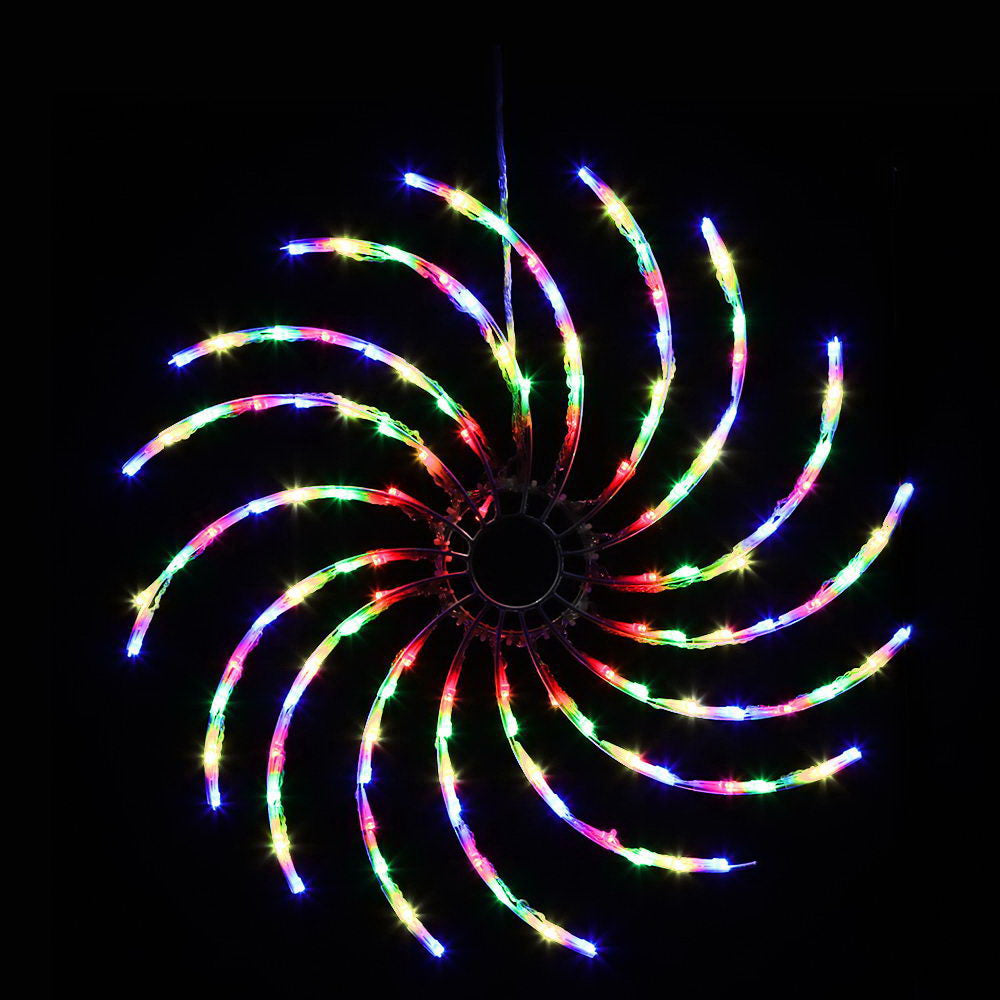 Jingle Jollys Christmas Motif Lights LED Spinner Light Waterproof Colourful