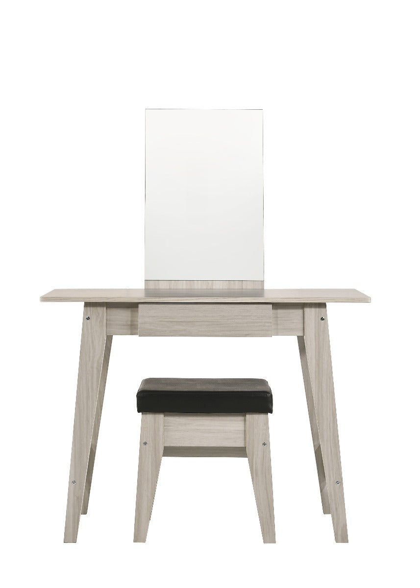 Dressing Table With Stool In White Oak