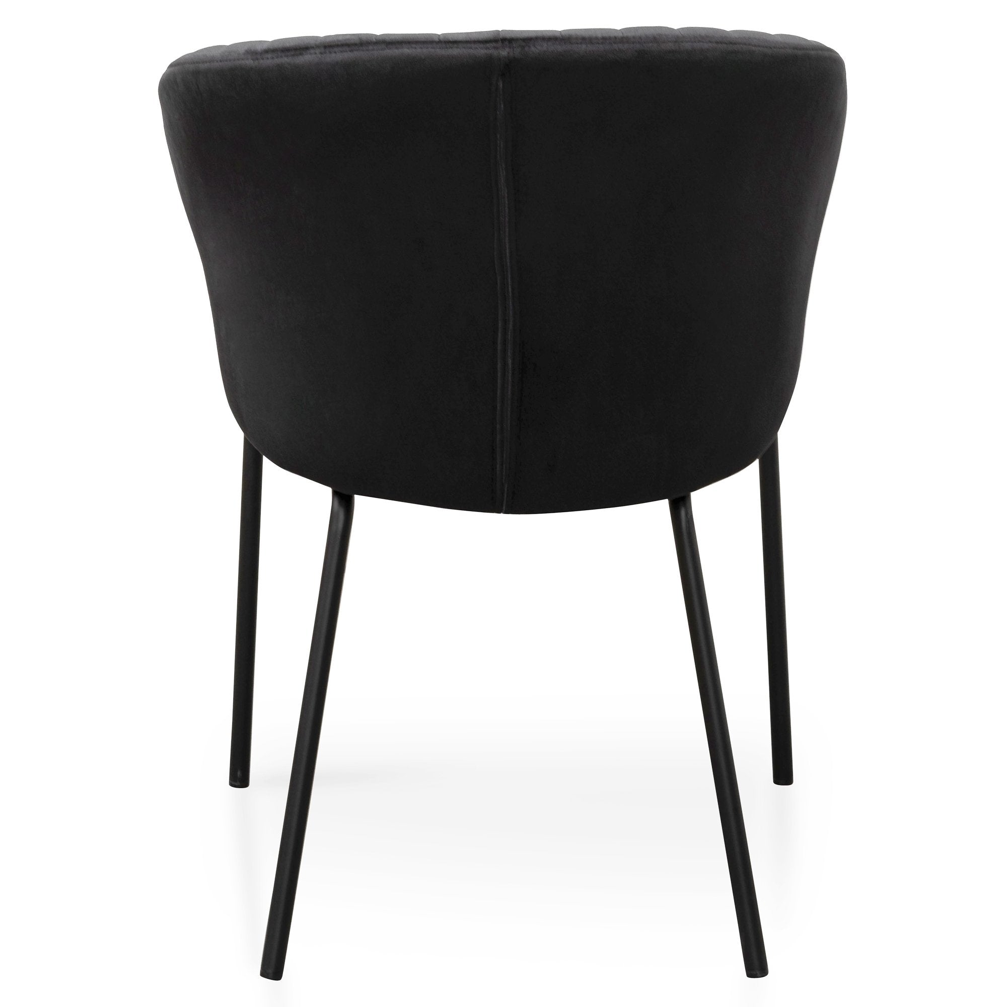 Coal Velvet Dining Chair