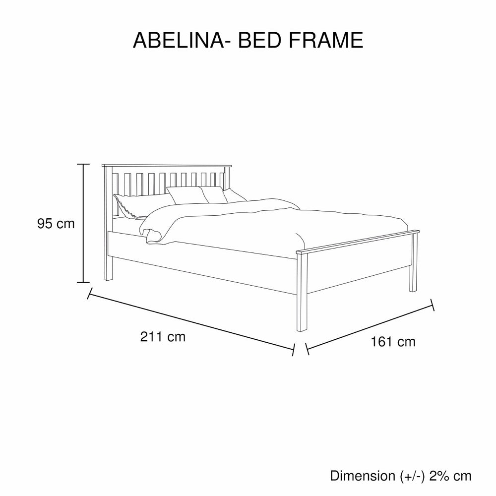 Abelina Queen Bed Mellow White