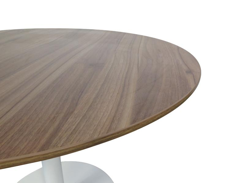 Oliver Round Office Meeting Table - Walnut