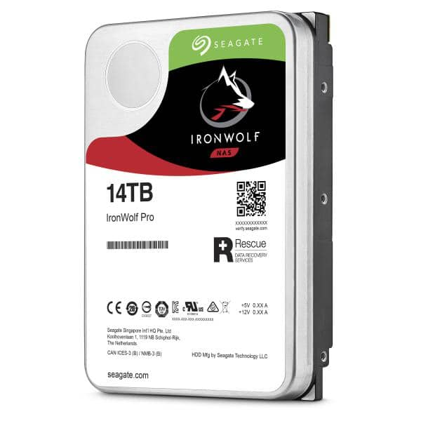 "Seagate IronWolf Pro NAS 14TB ST14000NE0008 3.5"" Internal  SATA 6Gb/s 7200rpm 256MB Cache, 5 Year Wty - SOH Promo only"