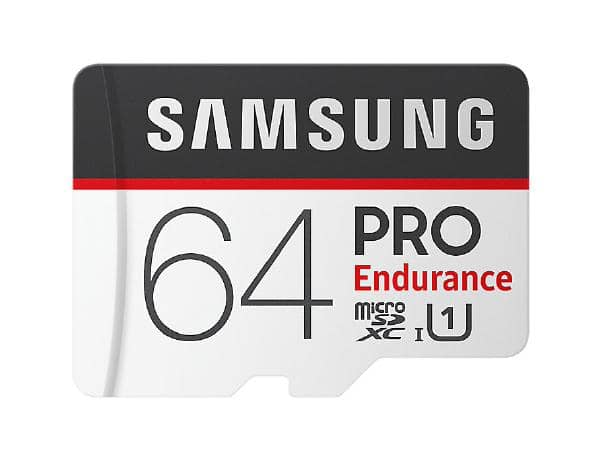 Samsung PRO Endurance micro SDCard (SD Adapter) 64GB