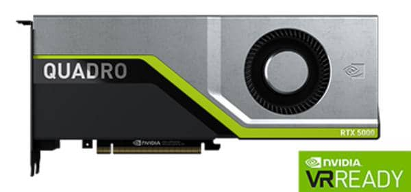 Leadtek Quadro RTX5000 Work Station Graphic Card PCIE 16GB GDDR6 4H (DP) VirtualLink (1) 1x Fan, ATX
