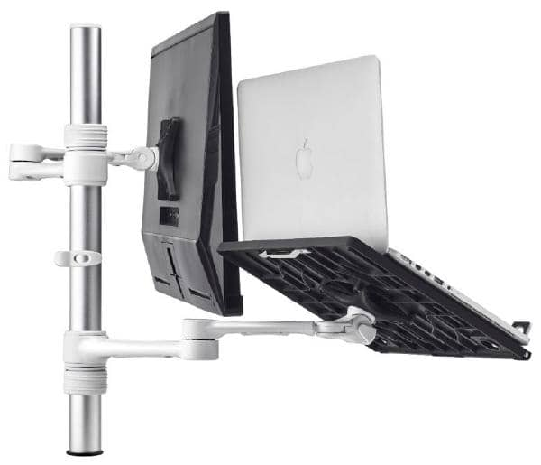Atdec Notebook monitor arm combo mount - White