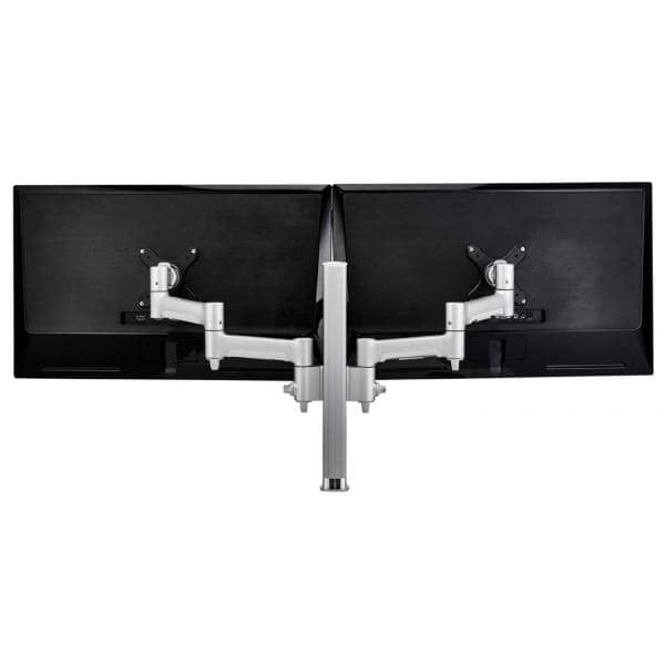 Atdec AWM Dual monitor arm solution - 460mm articulating arms - 400mm post - Grommet clamp - silver