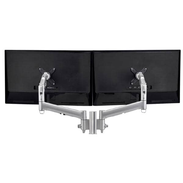 Atdec AWM Dual monitor mount solution on a 135mm post - F Clamp - black
