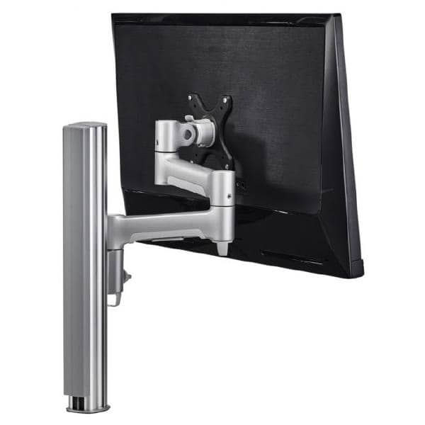 Atdec AWM Single monitor arm solution - 460mm articulating arm - 400mm post - bolt - black