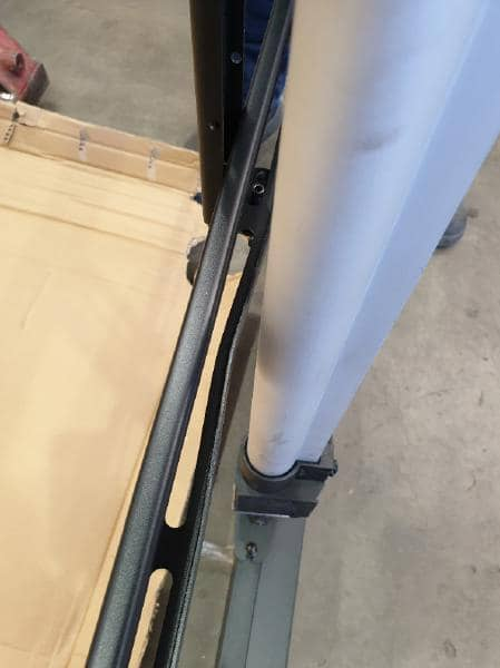 NQR - Gilkon FP7 v3 Mobile Trolley- Flat Screen Lift Mobile (Motorised) - VESA 800 x 400, Max 120kgs - ***Minor dent as pictured near the actuator ***