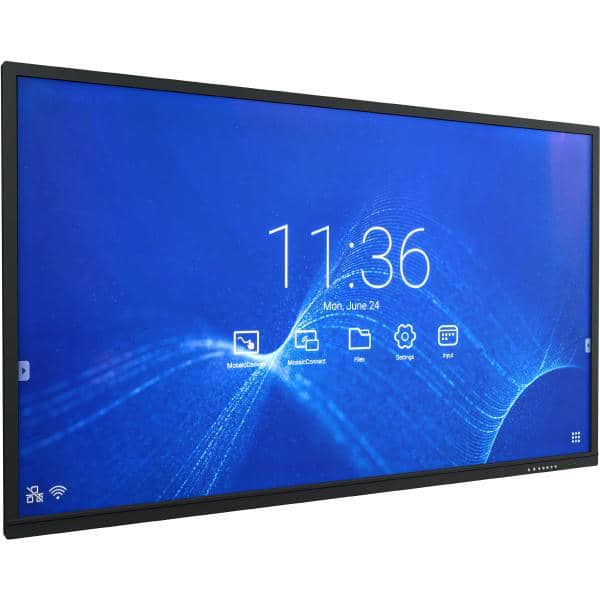 "NEC CB861Q - 86"" Collaboration Board/ 12/7 Usage/ 16:9/ 3840 x 2160/ 1,200:1/ IPS Panel/ VGA, HDMI, LAN, USB/ 20 Point Touch/ Optional OPS"